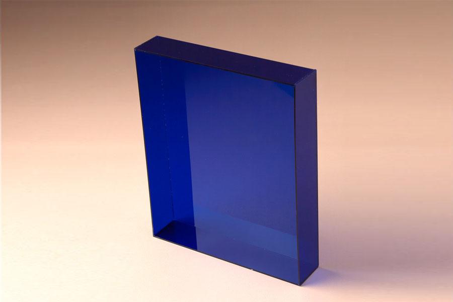 bac confiserie en plexi bleu