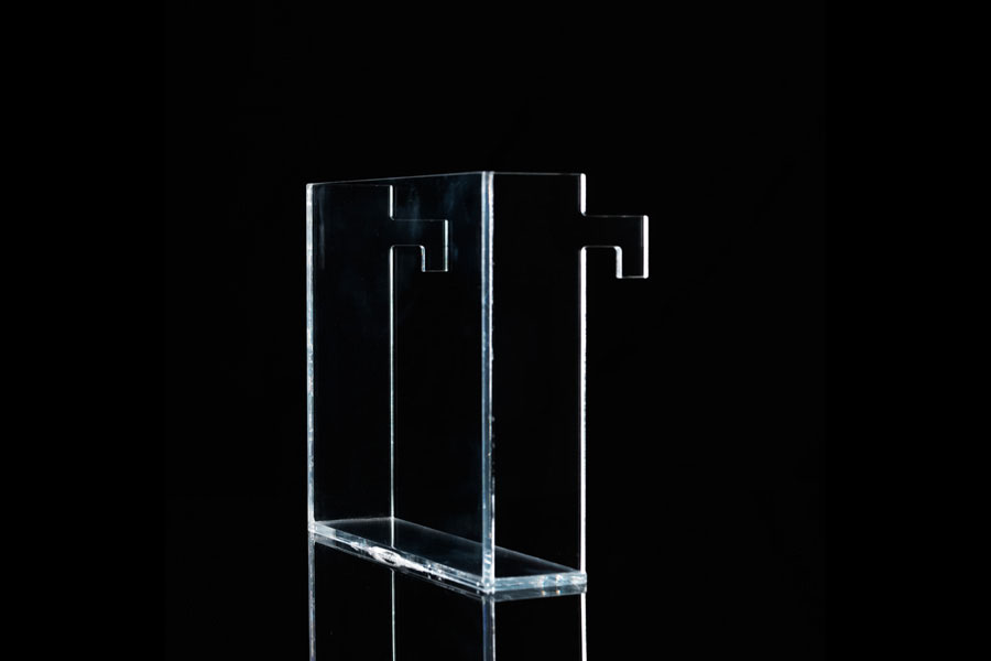 boite depliant plexi transparent accrochage