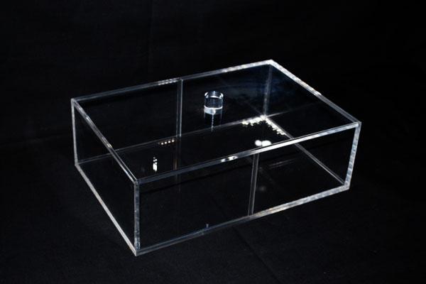 boite rangement transparent plexi avec couvercle