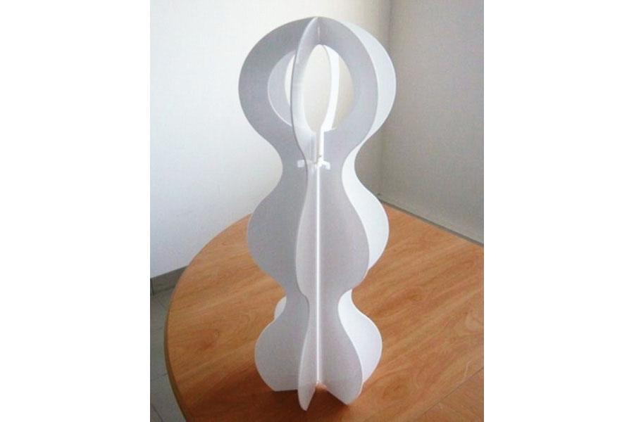 lampe plexi blanc