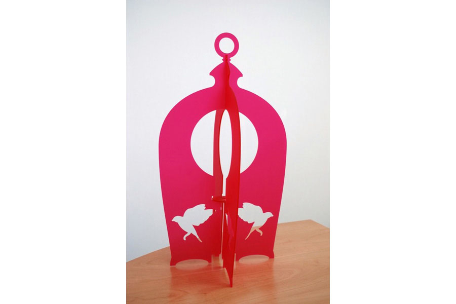 lampe plexi rose