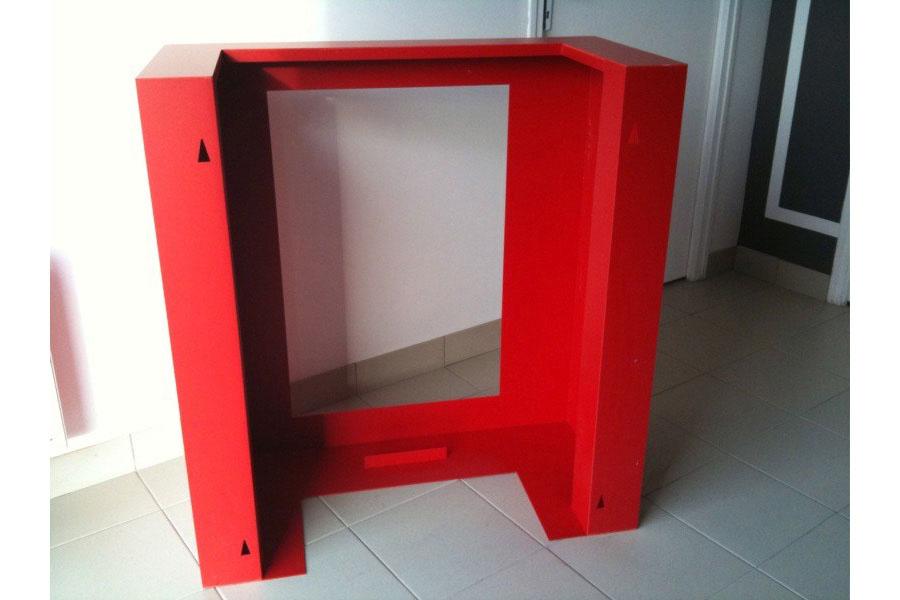 meuble pvc expanse rouge agencement