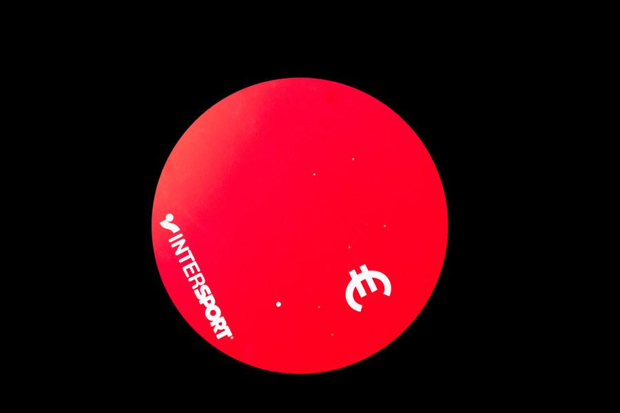 pastille en pvc expanse rouge avec impression