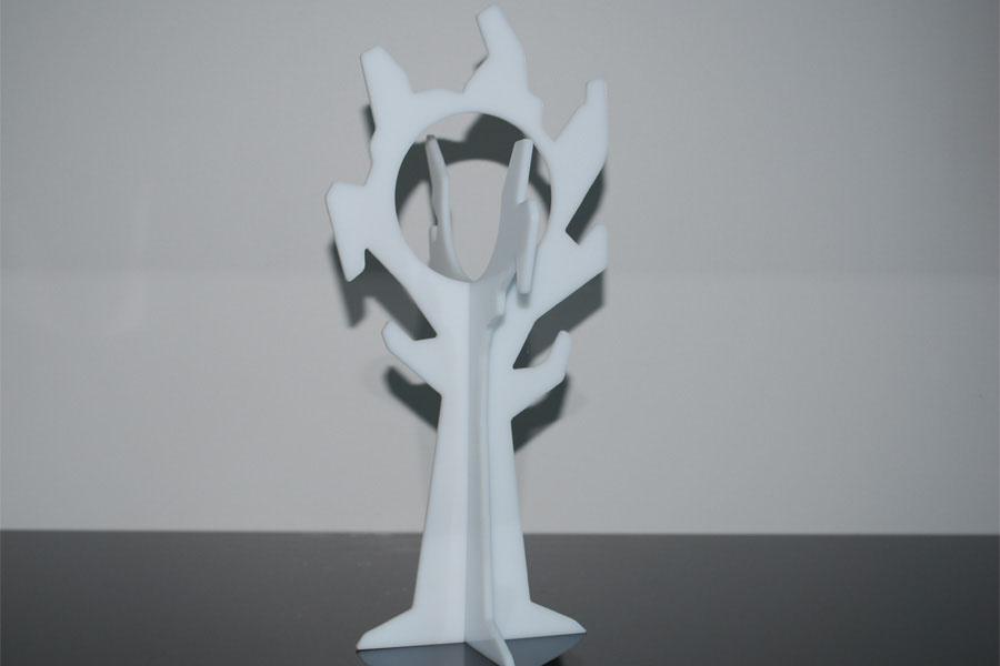 trophee arbre plexi blanc