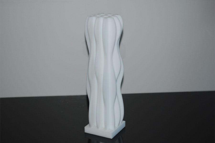 trophee tronc plexi blanc