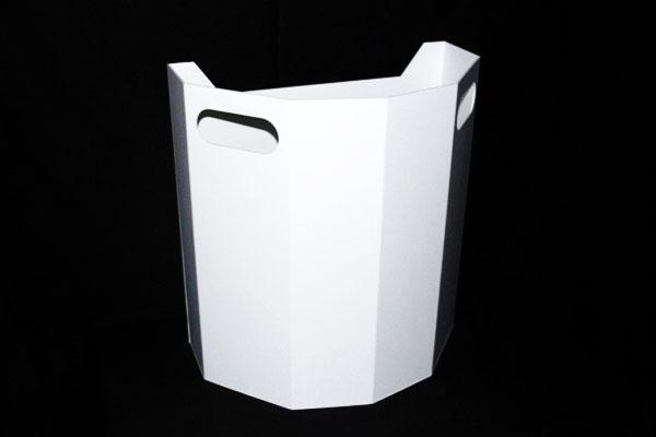 urne avec poignees pvc expanse blanc